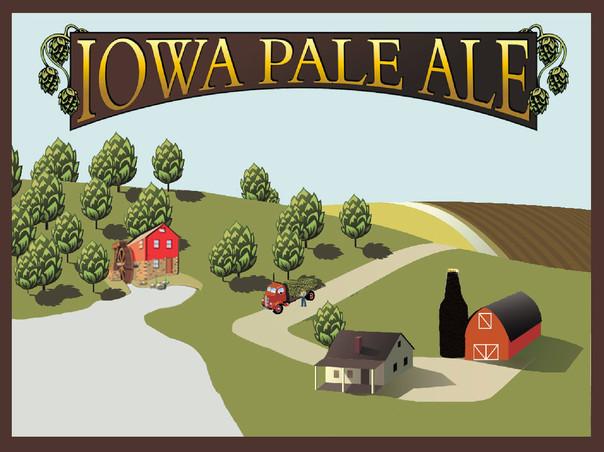 Millstream Iowa Pale Ale beer Label Full Size