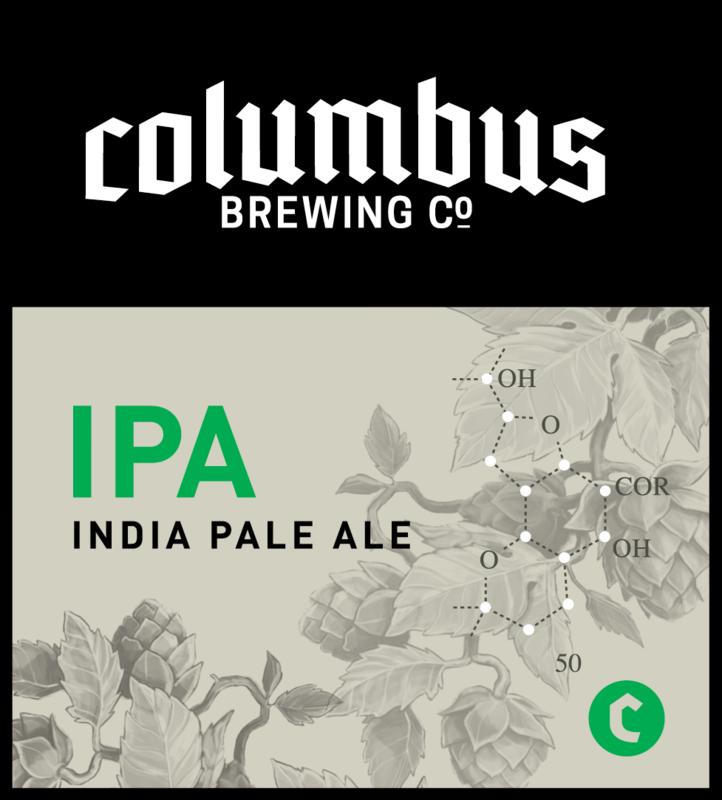 Columbus CBC IPA beer Label Full Size