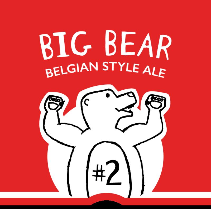 One Barrel Big Bear – Belgian Style Ale beer Label Full Size