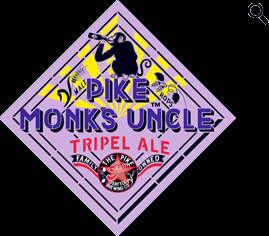 Pike Monk's Uncle Tripel beer Label Full Size