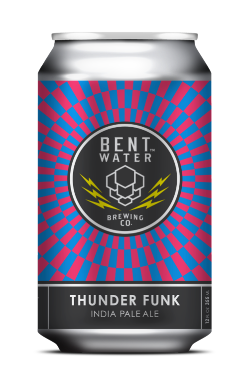 Bent Water Thunder Funk IPA beer Label Full Size