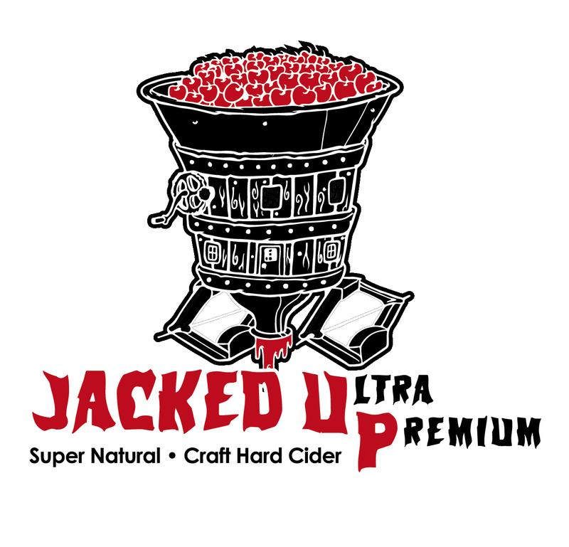 Crimson Sunset Jacked UP: Pomegranate beer Label Full Size