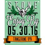 Stone Enjoy By 05.30.16 Tangerine IPA beer