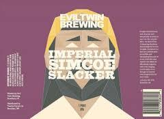 Evil Twin Imperial Simcoe Slacker beer Label Full Size