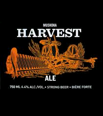 Muskoka Harvest Ale beer Label Full Size