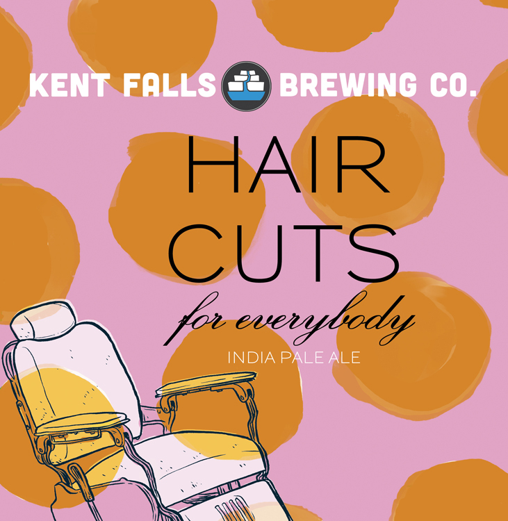 Kent Falls Haircuts for Everybody beer Label Full Size