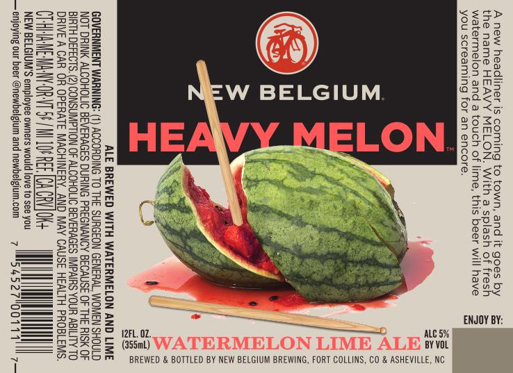 New Belgium Heavy Melon beer Label Full Size
