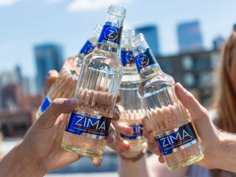 Zima Citrus beer Label Full Size