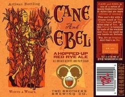 Two Brothers Cane & Ebel beer Label Full Size