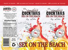 Signature Cocktails Sex On The Beach beer Label Full Size