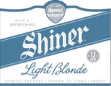 Shiner Light Blonde beer