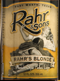 Rahr & Sons Blonde Beer