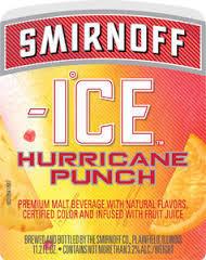 Smirnoff Ice Hurricane Punch beer Label Full Size