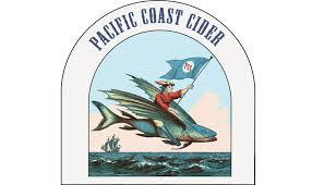 Pacific Coast Hard Apple Cider with Mango & Muscat beer Label Full Size