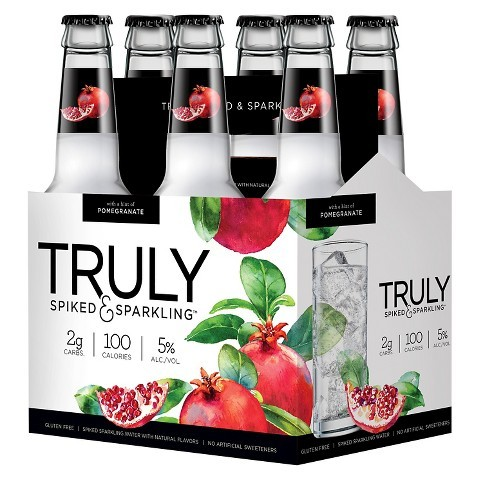 Truly Pomegranate beer Label Full Size