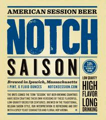 Notch Saison beer Label Full Size