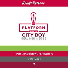 Platform City Boy Beer