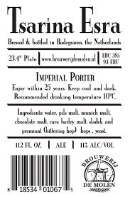 De Molen Tsarina Esra beer Label Full Size