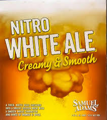 Sam Adams White Nitro beer Label Full Size