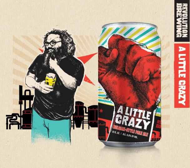 Revolution Lil Crazy beer Label Full Size