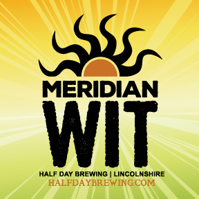 Half Day Meridian Wit beer Label Full Size