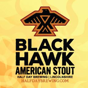 Half Day Blackhawk Stout beer Label Full Size