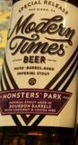 Modern Times Coconut & Cocoa Nib Bourbon Barrel Aged Monsters' Park beer