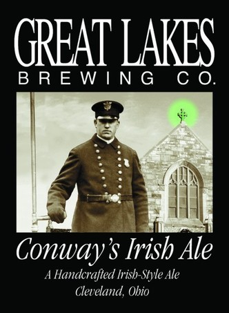 Great Lakes Conway's Irish Ale beer Label Full Size