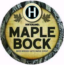 Hinterland Maple Bock beer Label Full Size