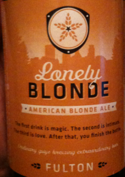 Fulton The Lonely Blonde Ale beer Label Full Size