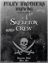 Foley Bros Skeleton Crew beer Label Full Size