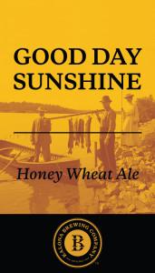 Kalona Good Day Sunshine beer Label Full Size