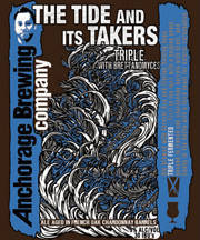 Anchorage The Tide and its Takers Triple beer Label Full Size