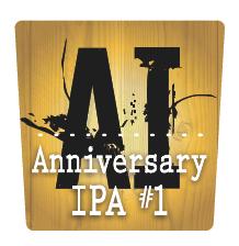 Moeller Brew Barn - Anniversary IPA #1 beer Label Full Size