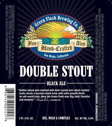 Green Flash Double Stout beer Label Full Size
