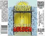 French Broad Gateway Kolsch beer