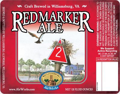 AleWerks Red Marker Ale beer Label Full Size