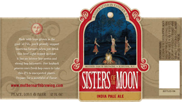 Photo Of Mother Earth Sisters Of The Moon Beer Label
