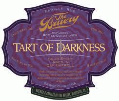 Bruery Terreux Tart of Darkness 2016 beer Label Full Size