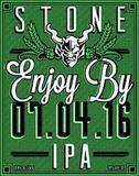 Stone Enjoy By 07.04.16 IPA beer