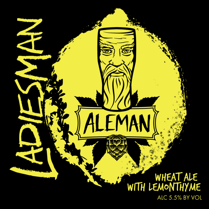 Aleman LadiesMan beer Label Full Size