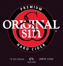 Original Sin Apple Cider beer Label Full Size