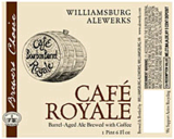 AleWerks Cafe Royale beer
