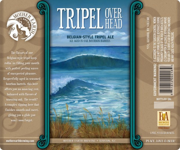 Mother Earth Tripel Overhead 2016 beer Label Full Size