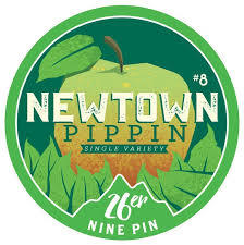 Nine Pin Newtown Pippin Cider beer Label Full Size