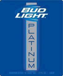 Bud Light Platinum beer Label Full Size