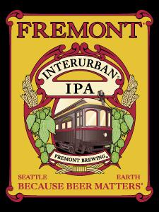 Fremont Interurban IPA beer Label Full Size