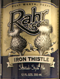 Rahr & Sons Iron Thistle Beer