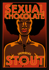 Foothills Sexual Chocolate beer Label Full Size
