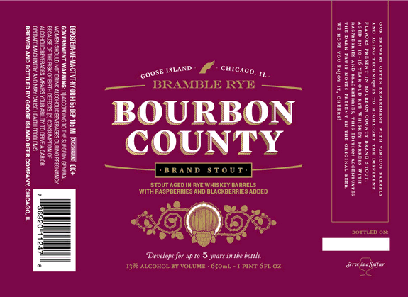 Goose Island Bourbon County Bramble Rye Stout beer Label Full Size